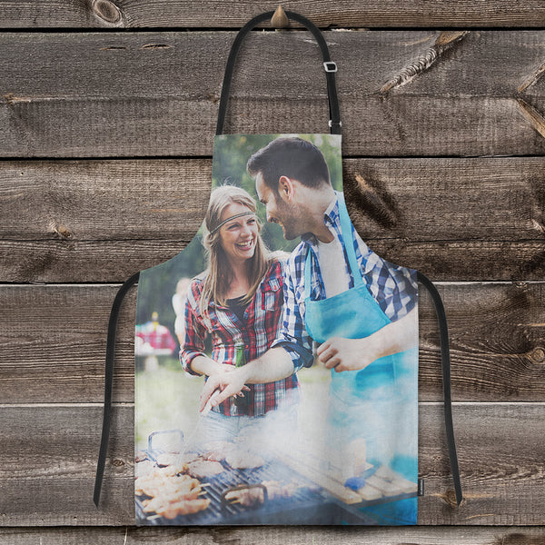 Custom Photo Adjustable Bib Apron For Kitchen Cooking Restaurant BBQ Painting Crafting