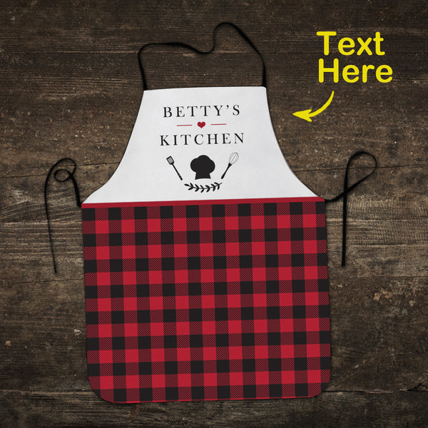 Custom Text Apron Personalized Apron Christmas Gifts for Mom