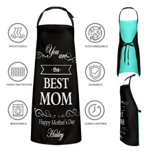 Mother's Day Gift - Custom Name Apron and Best Mom Happy Mother's Day