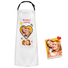 Custom Kitchen Apron With Your Photo Mother's Day Gifts - Mummy's Cooking