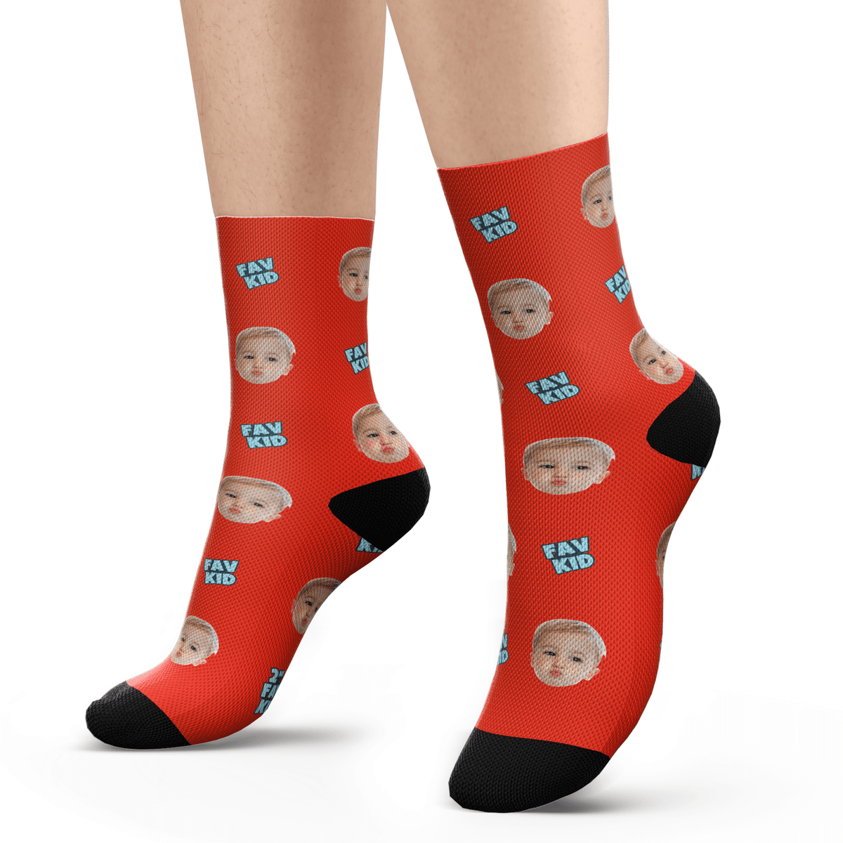 Custom Fav Kid Photo Socks