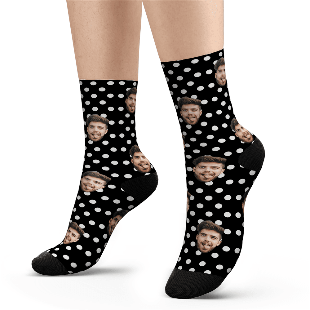 Valentine's Day Gift-Custom Polka Dot Socks