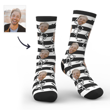 Halloween Face Socks with Skeleton Body