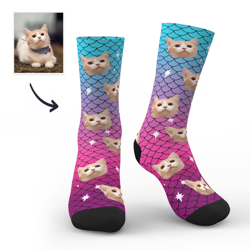 Custom Cute Mermaid Socks
