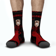 Halloween Custom Women Red Dress Monster Socks