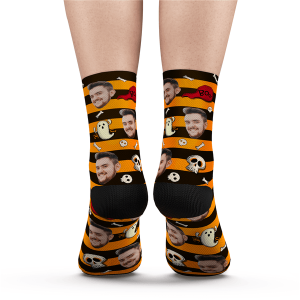 Halloween Custom Black Cat Socks