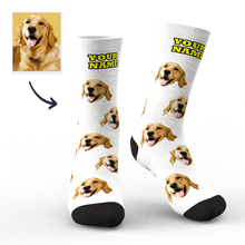 Custom Face Socks Dog Face Socks 3D Preview