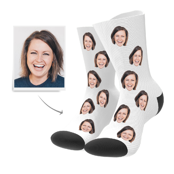 Custom Face Photo Socks With Name