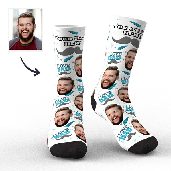 Custom Photo Socks I Love Dad Socks