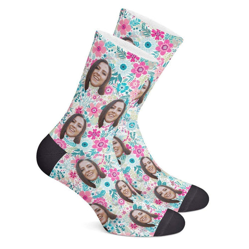 Custom Floral Socks