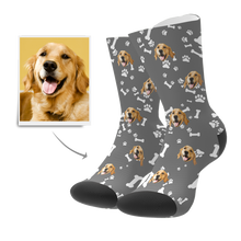 Custom Dog Face Photo Socks