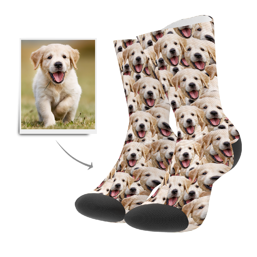 Photo Socks, Custom Face Mash Dog Socks