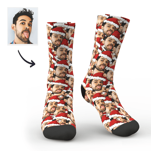 Christmas Custom Red Hat Socks
