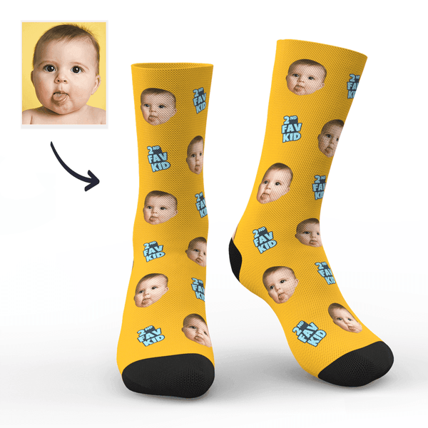 Custom 2nd Fav Kid Photo Socks