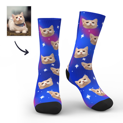 Custom Galaxy Cat Socks