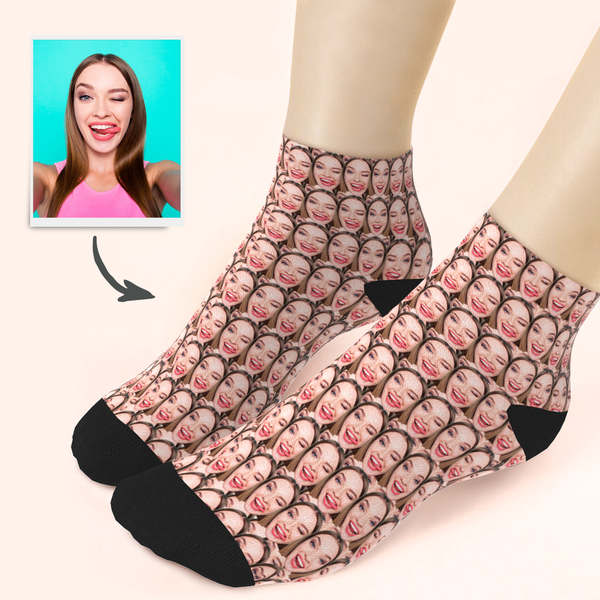 Custom Girlfriend Face Ankle Socks