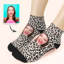 Custom Leopard Print Ankle Socks