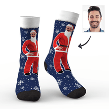 Christmas Gifts Custom Face On Santa Claus Body Socks
