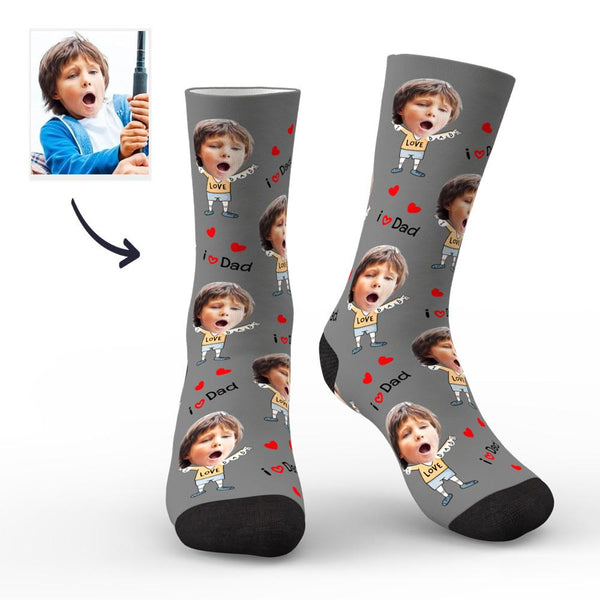 Custom Face Socks to The Dearest Dad Best Gifts