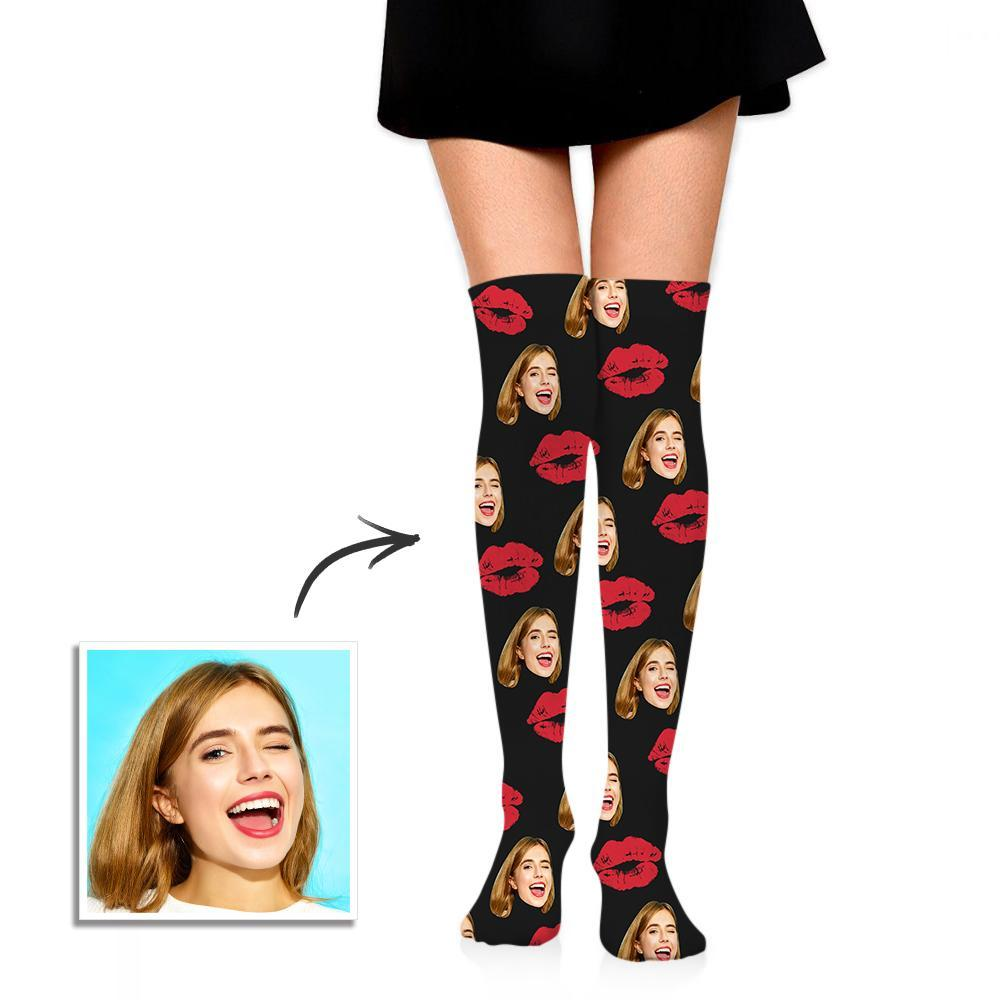 Personalized Socks Knee High Printed Picture Adult Tube Socks