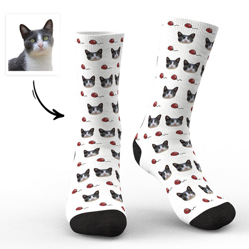Custom Face socks Unique Cat Photo Socks For Pet Lovers - Cats