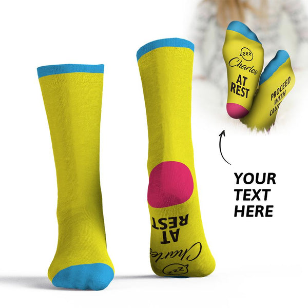 Custom Socks Add Name -Proceed With Caution