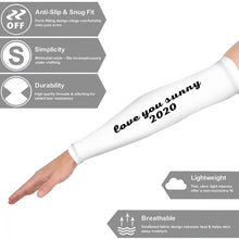 Printed Arm Sun Sleeves, Arm Sleeves, Arm Covers, Compression Sleeves, Arm Protectors White