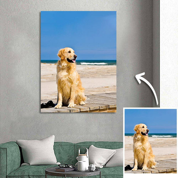 Custom Cute Pet Photo Canvas Prints Gifts