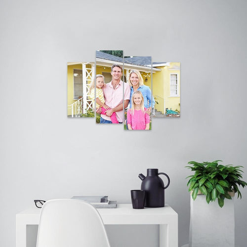 Custom Family Photo Wall Decor Painting Canvas Without Frame Painting 4 Pieces