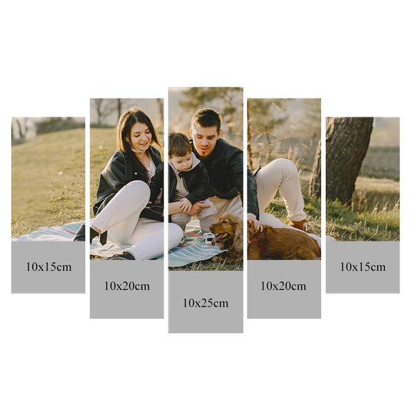 Custom Photo 5pcs Contemporary Canvas Prints Family Gifts