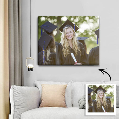 Graduation Gifts - Custom Photo Canvas Prints With Frame Memory Gifts