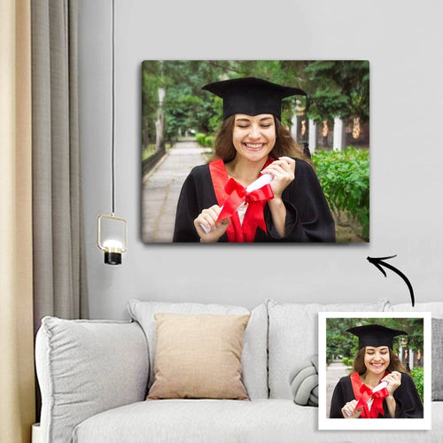 Graduation Gifts - Custom Photo Canvas Prints With Frame Best Gifts