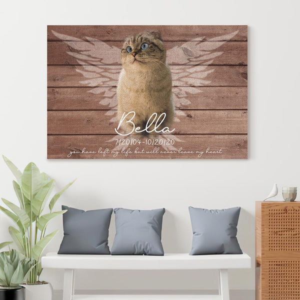 Personalized Cat Memorial Gift, Gift For Loss of Cat, Dog Loss Photo Gift, Sympathy Gift, Cat Condolence Gift, Cat Loss Photo Canvas