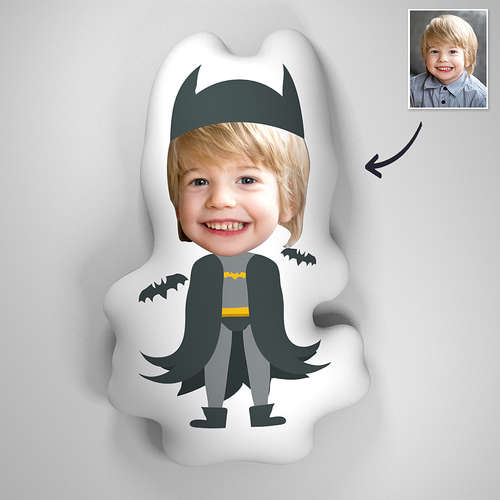 Custom Batman Baby Photo Comfortable Cute Pillow