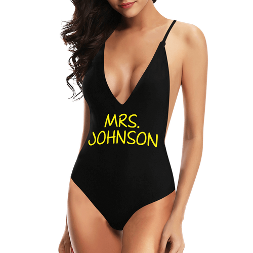Women's Personalized Name Custom One-Piece Swimsuit Set