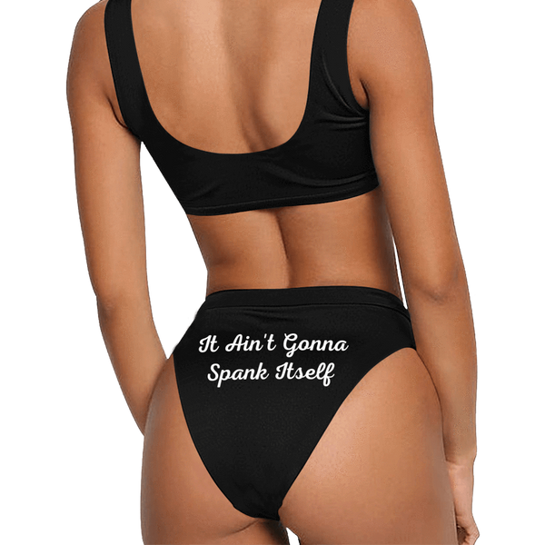 Two Sides Print Personalized Name & Message Custom Bikini Set
