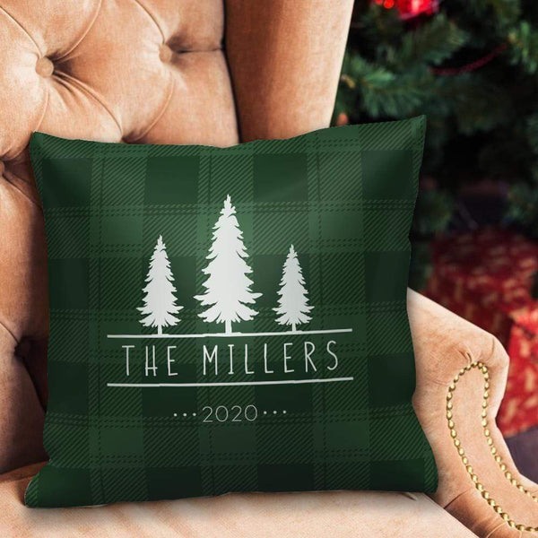 Personalized Pillow with Text Home Decor Custom Christmas Tree Picture Pillow Christmas Gifts