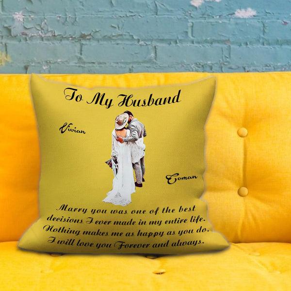 Valentine's Gift Custom Couple Photo Pillow Cartoon Character Pillow