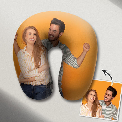 Personalized U Pillow Custom Photo Travel Neck Pillow Comfortable U-shaped Pillow Nursing Pillow - Couple Photos