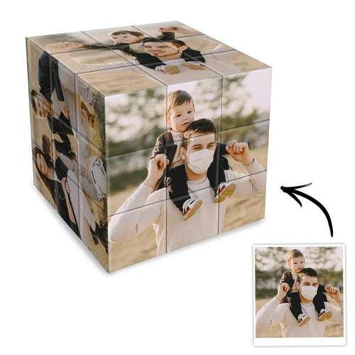Father's Day Gifts Custom Photo Rubik's Cube Multiphoto Rubik's Cube