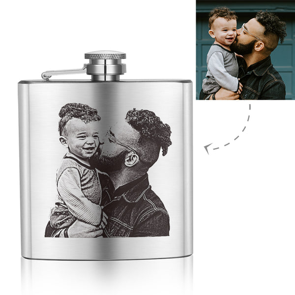 Father's Day Gifts - Custom Square Flagon Sketch