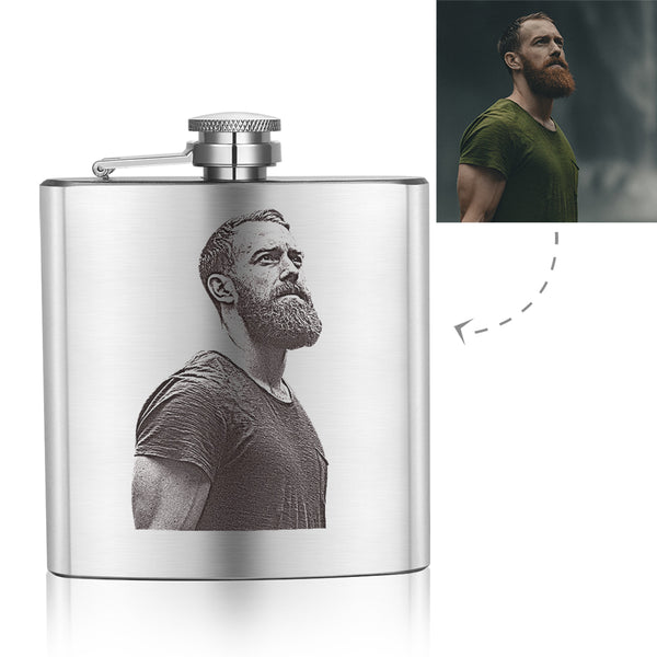 Father's Day Gifts - Custom PhotoCopying Square Flagon