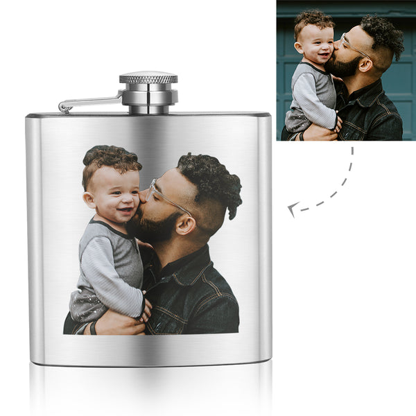 Father's Day Gifts - Custom Square Flagon to Dad