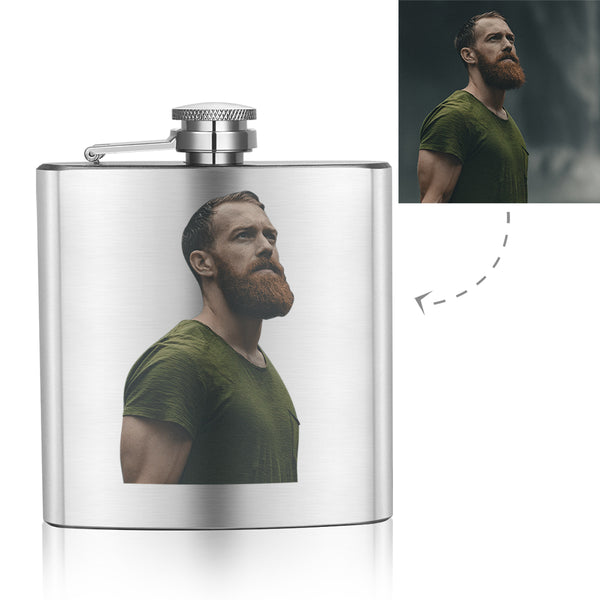 Father's Day Gifts - Custom Photo Square Flagon