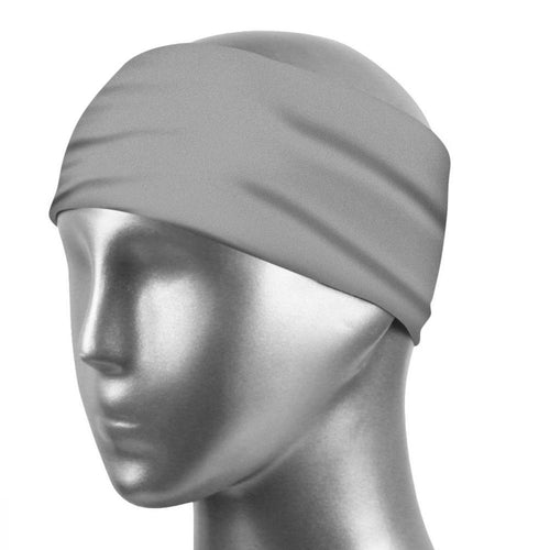 Sports Sweatband Unisex Design Sweat Wicking Fabric Fits All Head Sizes Workout Sweatbands for Running, Cross Training, Yoga and Bike Helmet - Light Gray