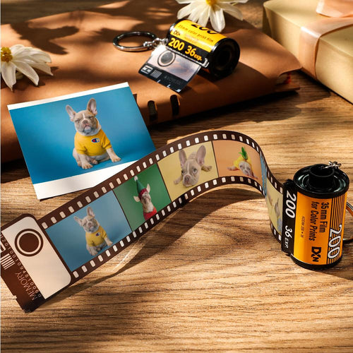 Custom Film Roll Keychain Customizable Romantic Gifts