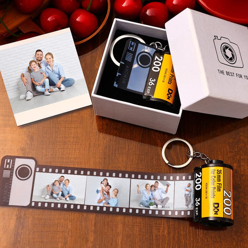 Custom Film Roll Keychain Customizable Romantic Gifts Film keychain