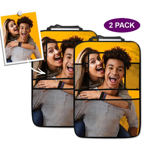 Personalized Car Accessories Backseat Storage Bag 2pcs Couples