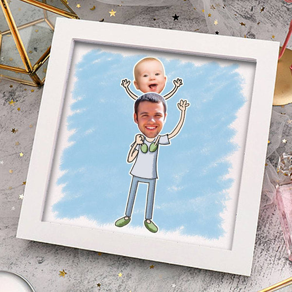 Personalized Father's Love Photo Frame Home Decoration Stereoscopic