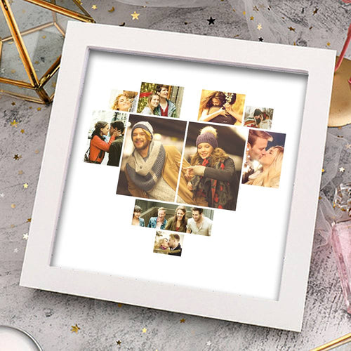 Personalized Photo Frame 10 Pictures with Heart Shaped Simple Style